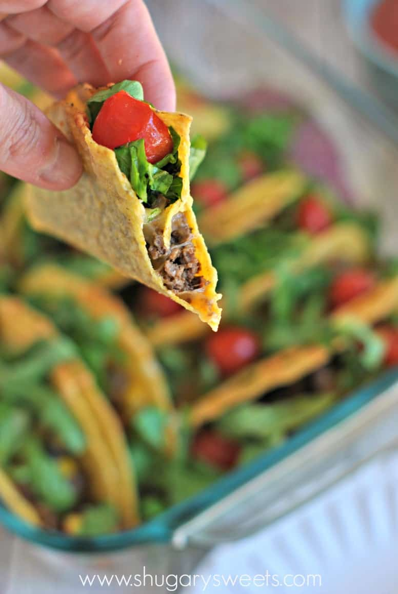 Baked Tacos: create the best dinner, crunchy tacos that don't fall apart!