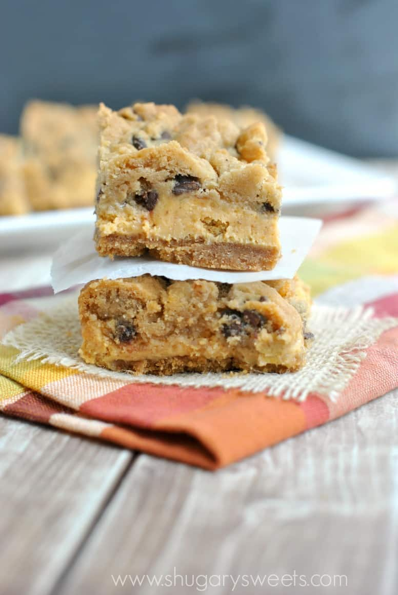 Pumpkin Chocolate Chip Cheesecake Bars: one of the most amazing ...