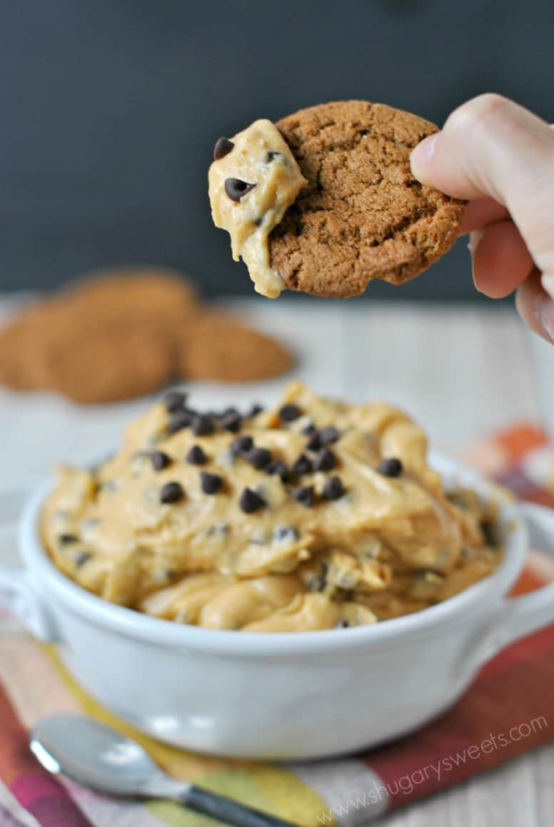 Pumpkin Chocolate Chip Cookie Dough DipShugary Sweets