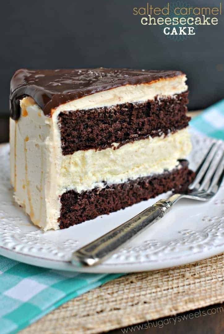 Salted Caramel Chocolate Cheesecake Cake recipe