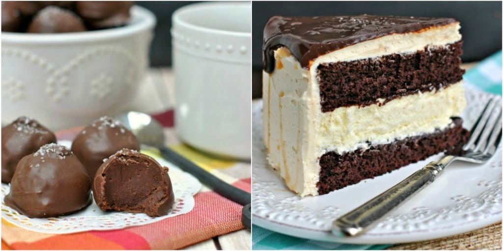 Two Salted Caramel treats: truffles and cheesecake cake!