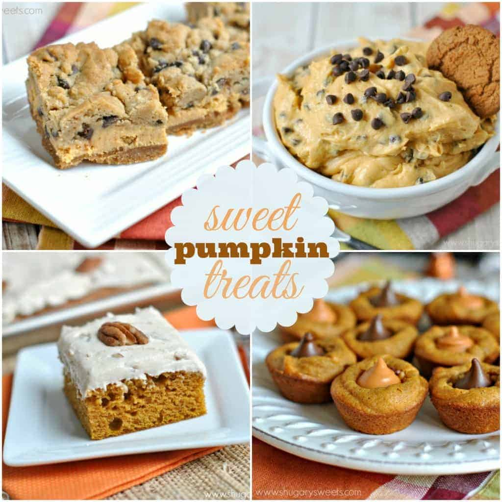 4 sweet Pumpkin treats: each is perfect, delicious and would make a great addition to your holiday dessert table!
