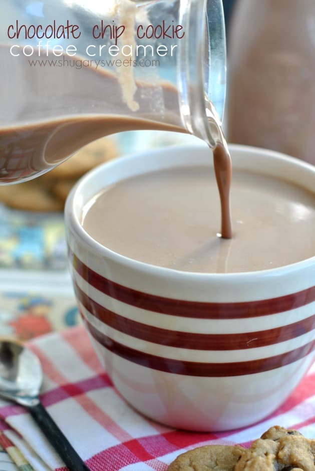 Homemade Coffee Creamer: Chocolate Chip Cookie flavored Coffee Creamer recipe!