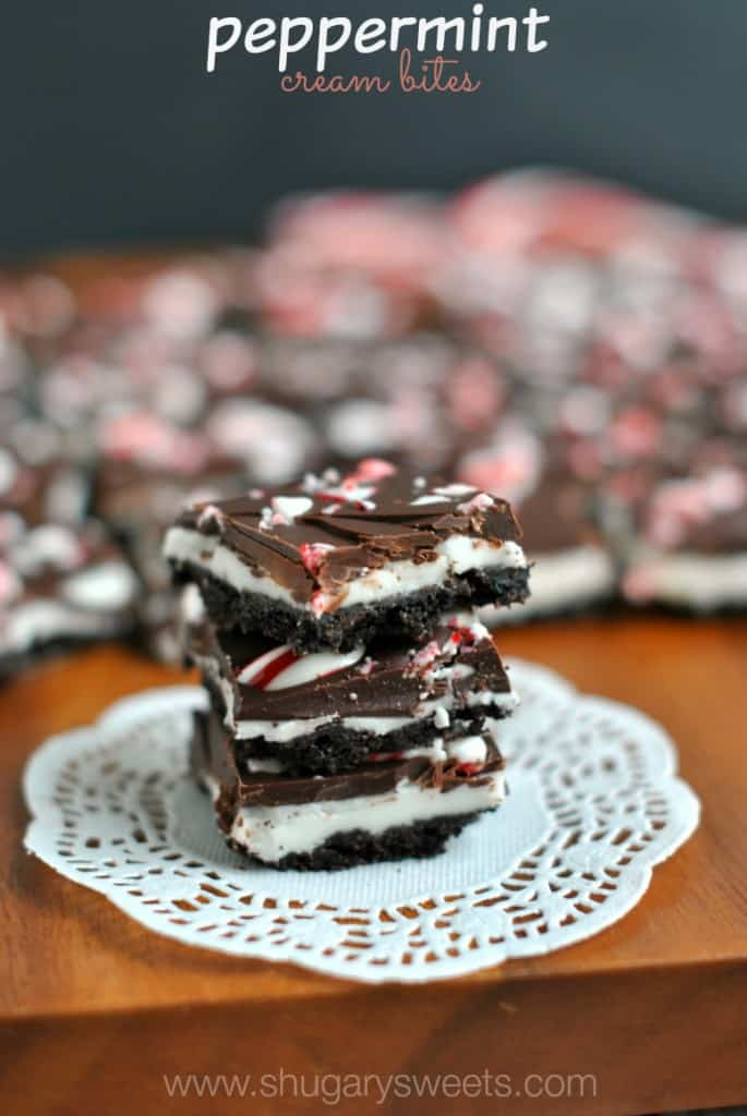 Peppermint Cream Bites: it's like combining a Peppermint Patty with an Oreo Cookie!