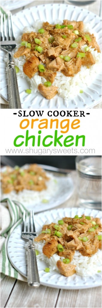 You'll love how easy this Slow Cooker Orange Chicken recipe is to make at home! Add some rice and dinner is complete!
