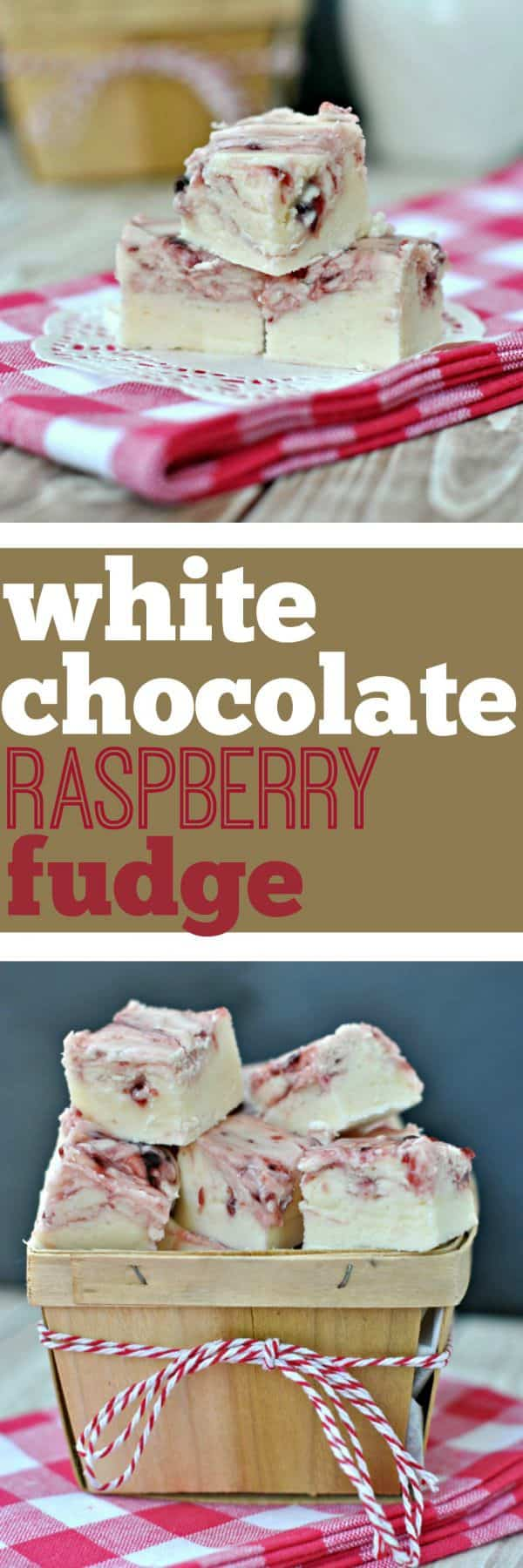 Creamy White Chocolate Fudge with a Raspberry swirl. You're going to want to sink your teeth into these!!