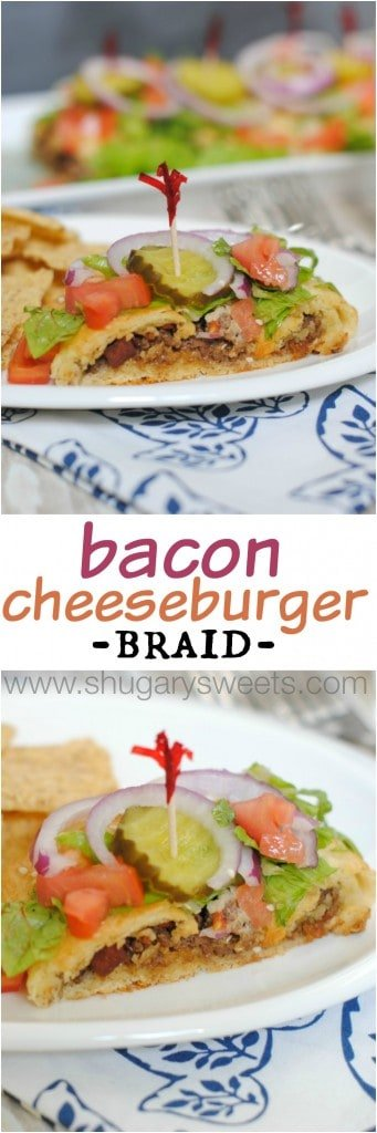 Bacon Cheeseburger Braid: a delicious dinner idea that's ready in 30 minutes!