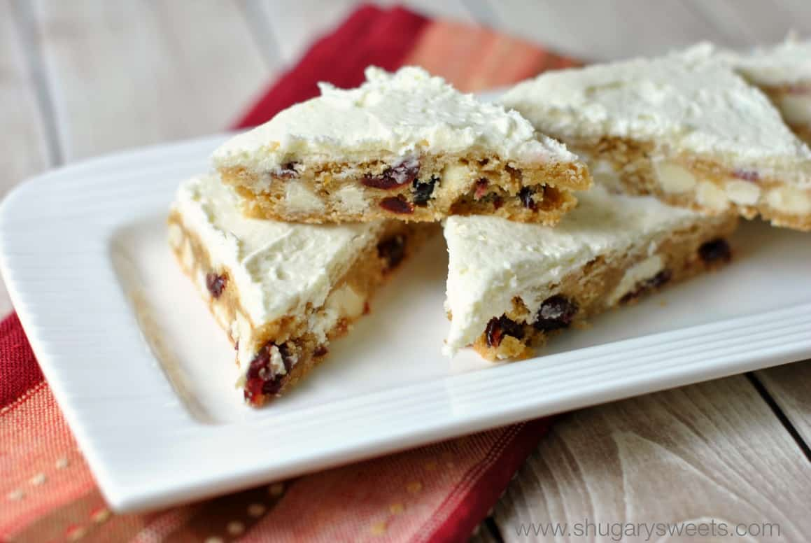 Cranberry Orange Cookie Bars: delicious, chewy cookie bars with dried ...