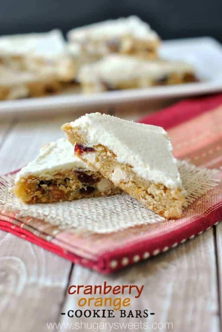Cranberry Orange Cookie Bars recipe