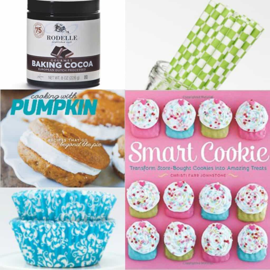 Gift guide: cookbooks, baking cocoa, straws and cupcake liners!