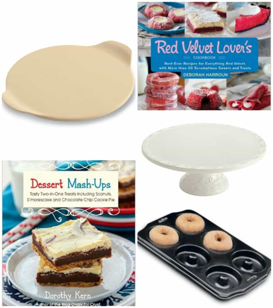 Gift guide: stoneware, cookbooks, cake plate, donut pan