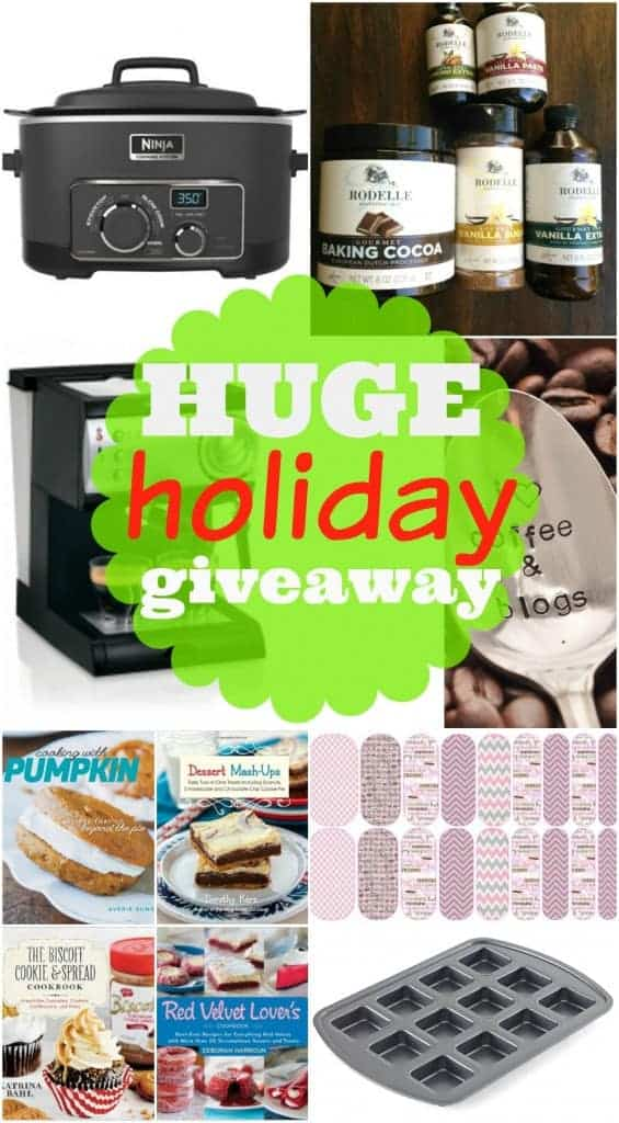 Huge Holiday Giveaway worth over $400. Giveaway ends Dec.4, 2015