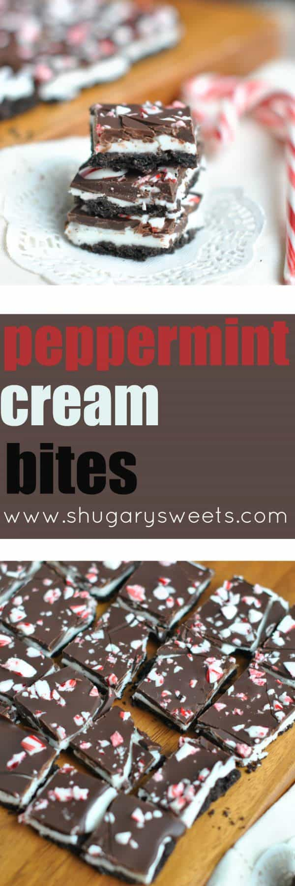 Delicious, easy Peppermint Cream Bites, just in time for the holidays!! It's like combining a Peppermint Patty with an Oreo cookie!