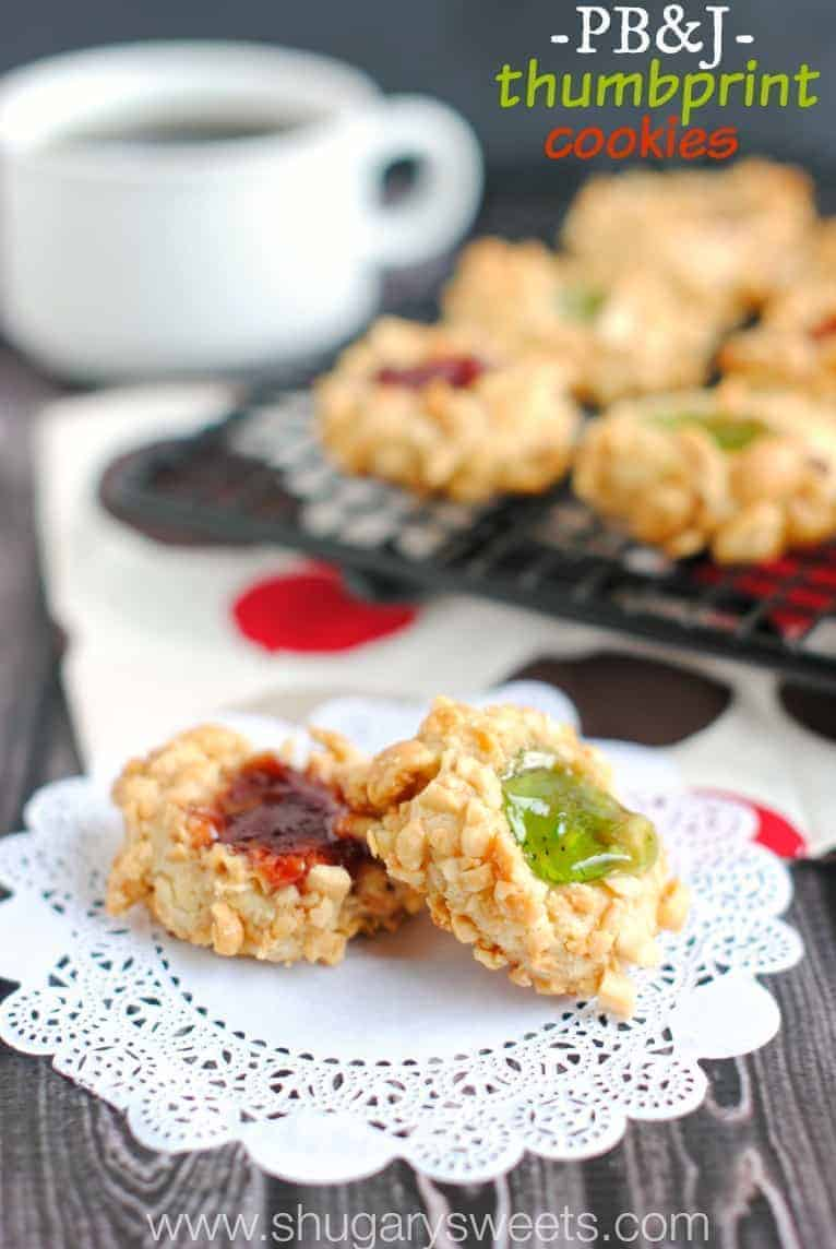 Thumbprint Cookies: delicious cookies wrapped in chopped peanuts and a ...