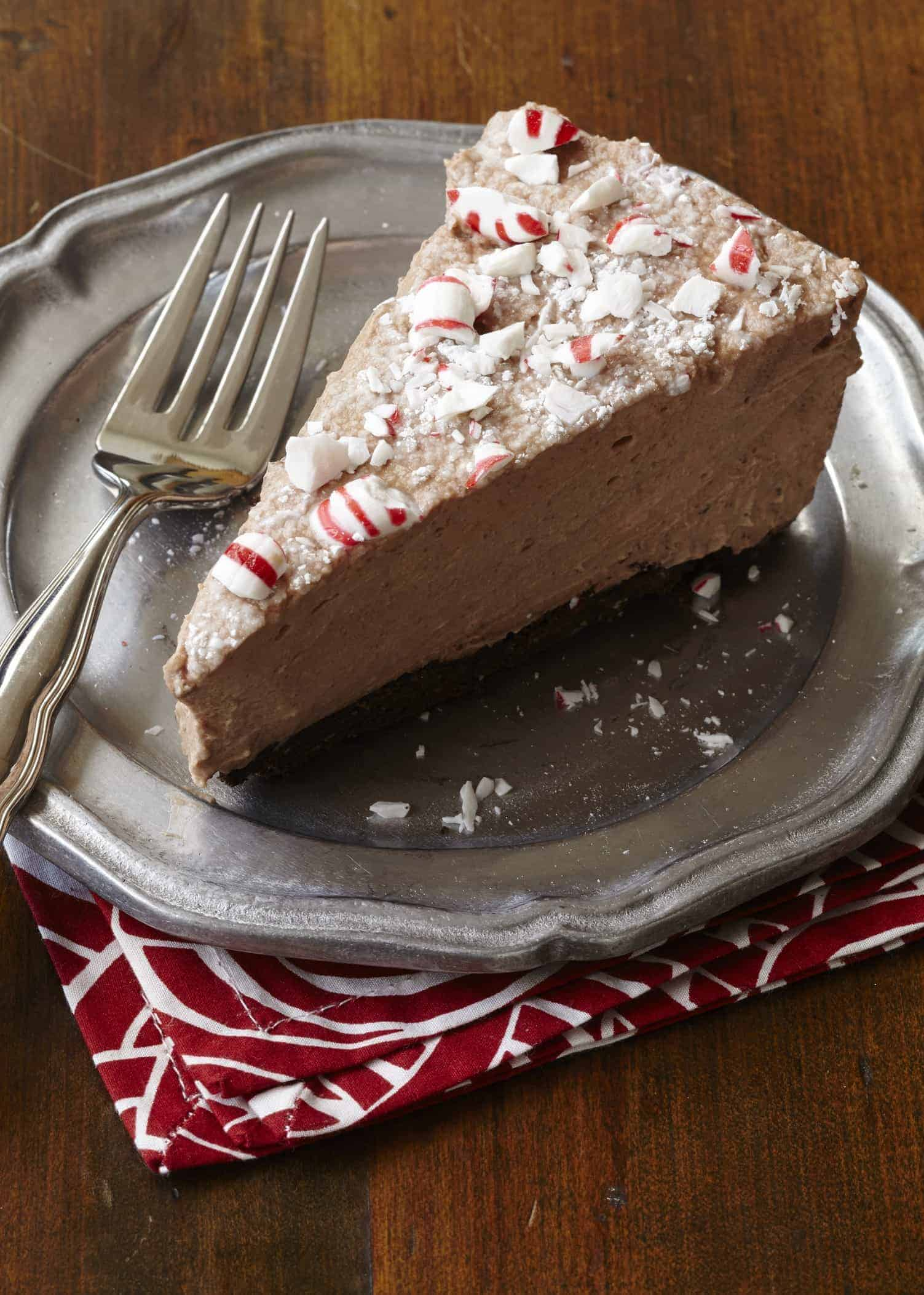 Chocolate Peppermint Mousse Pie - Shugary Sweets