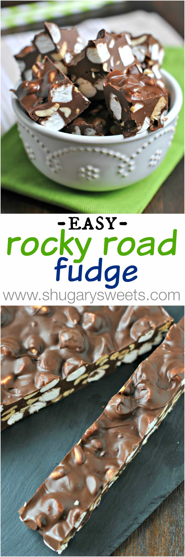 Shugary Sweets: Easy Rocky Road Fudge