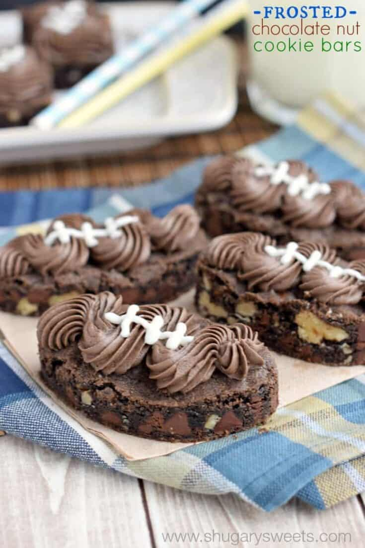 Delicious chocolate nut cookie bars!