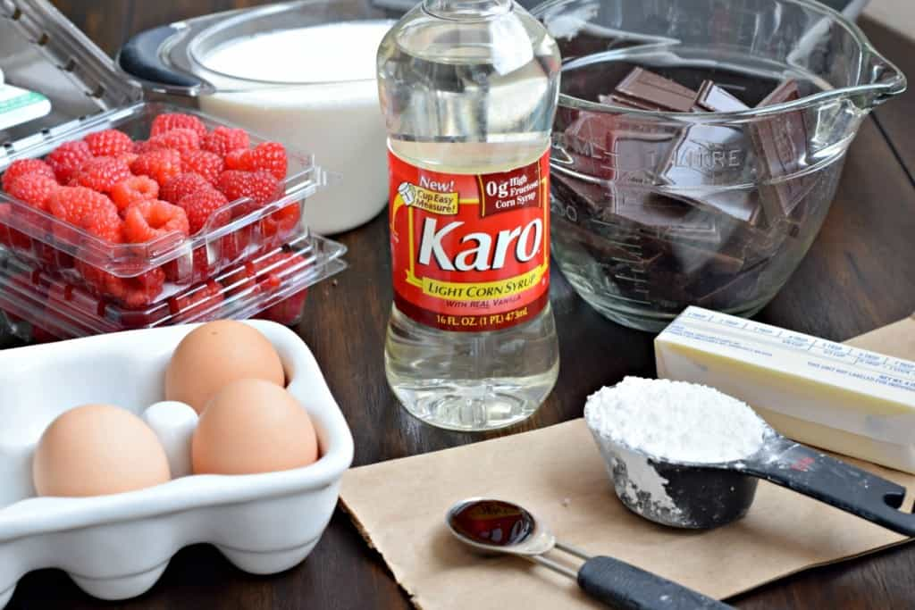 Chocolate Decadence with Raspberry Sauce