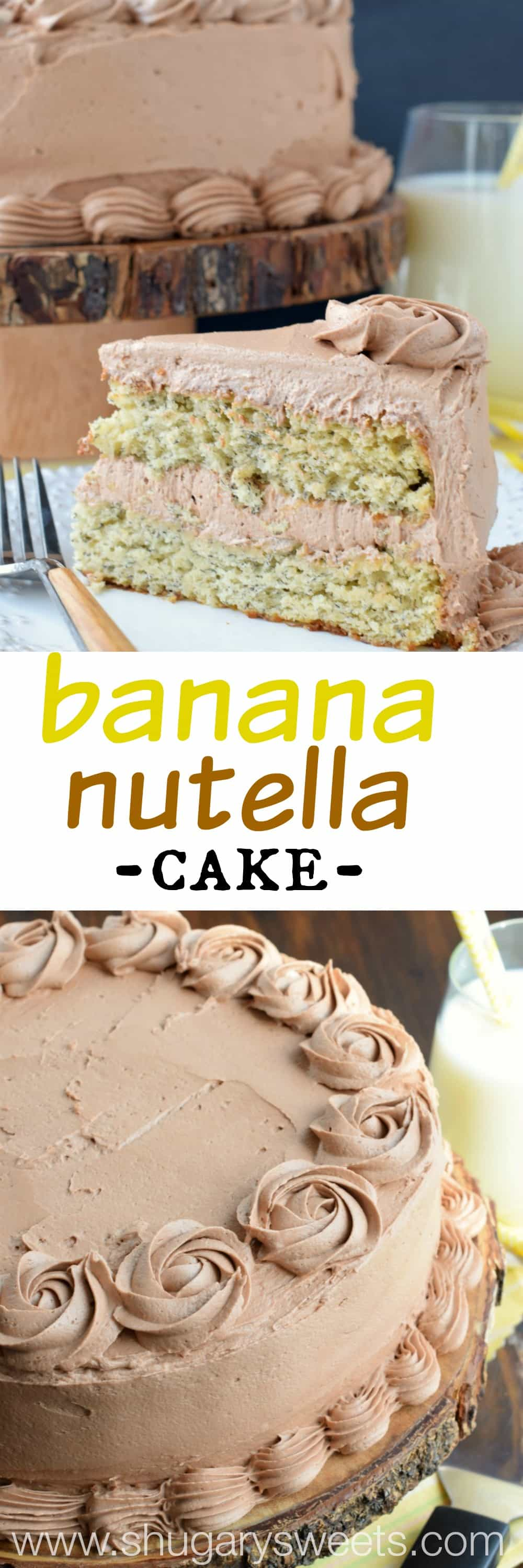 Shugary Sweets Banana Cake with Nutella Frosting - Shugary Sweets