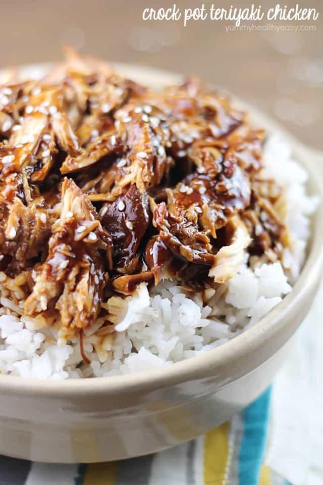 Crockpot Teriyaki Chicken from Yummy Healthy Easy