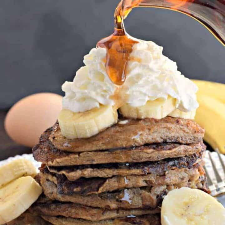Healthy Banana Nut Pancakes