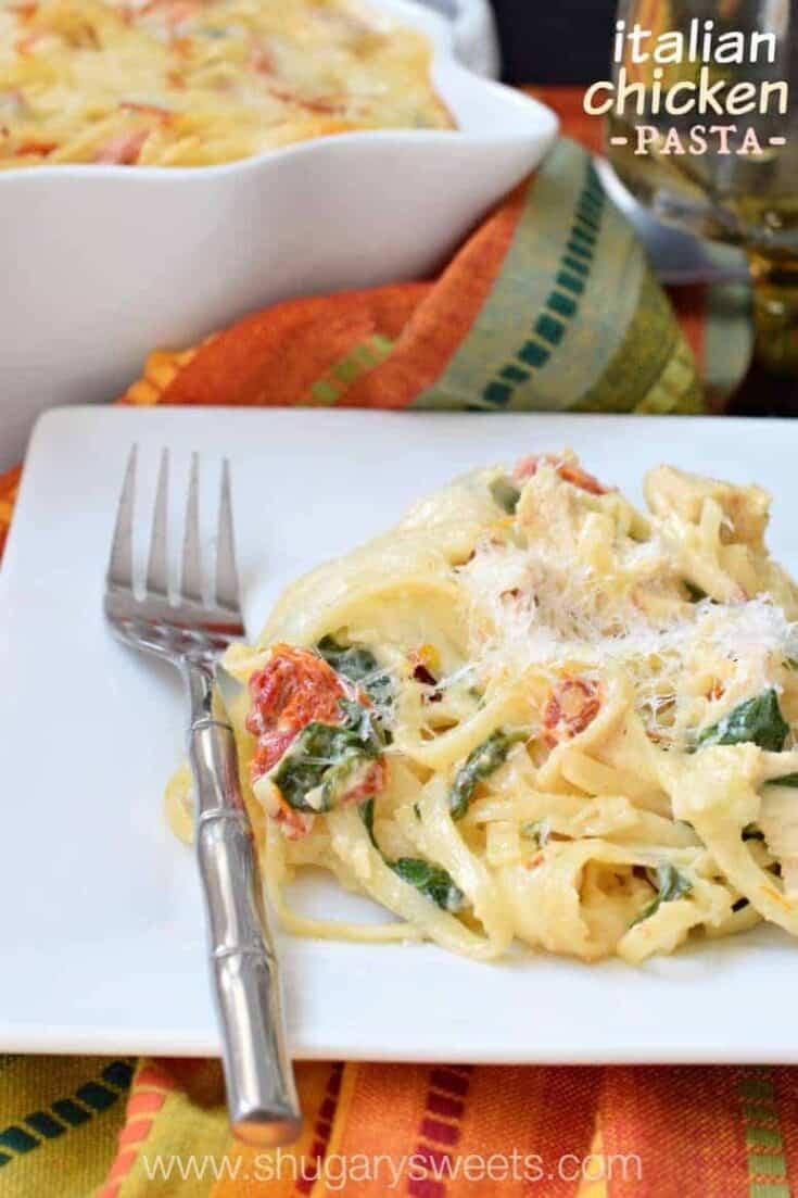 Easy pasta dinner recipe: Italian Chicken Casserole