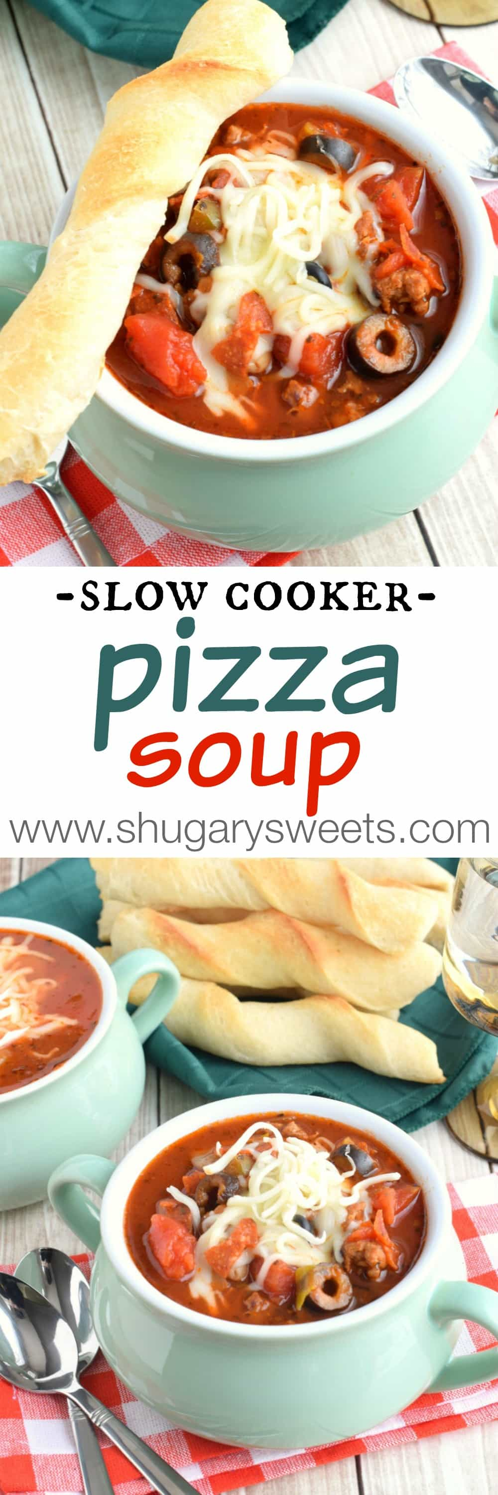 Slow Cooker Pizza Soup by Shugary Sweets | Epicurious Community Table