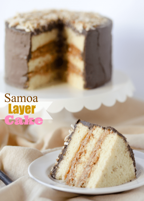 Samoa Layer Cake from Confessions of a Cookbook Queen