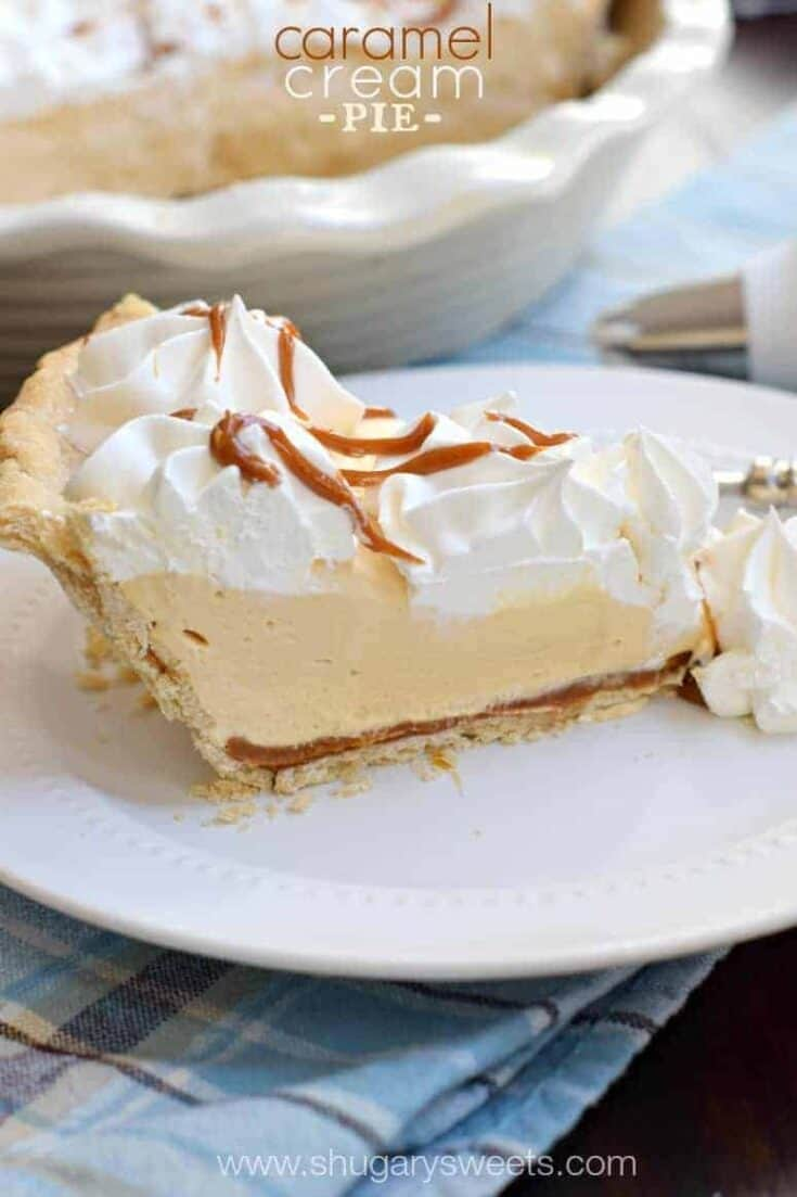 Sweet Caramel Cream Pie with a delicious layer of dulce de leche!