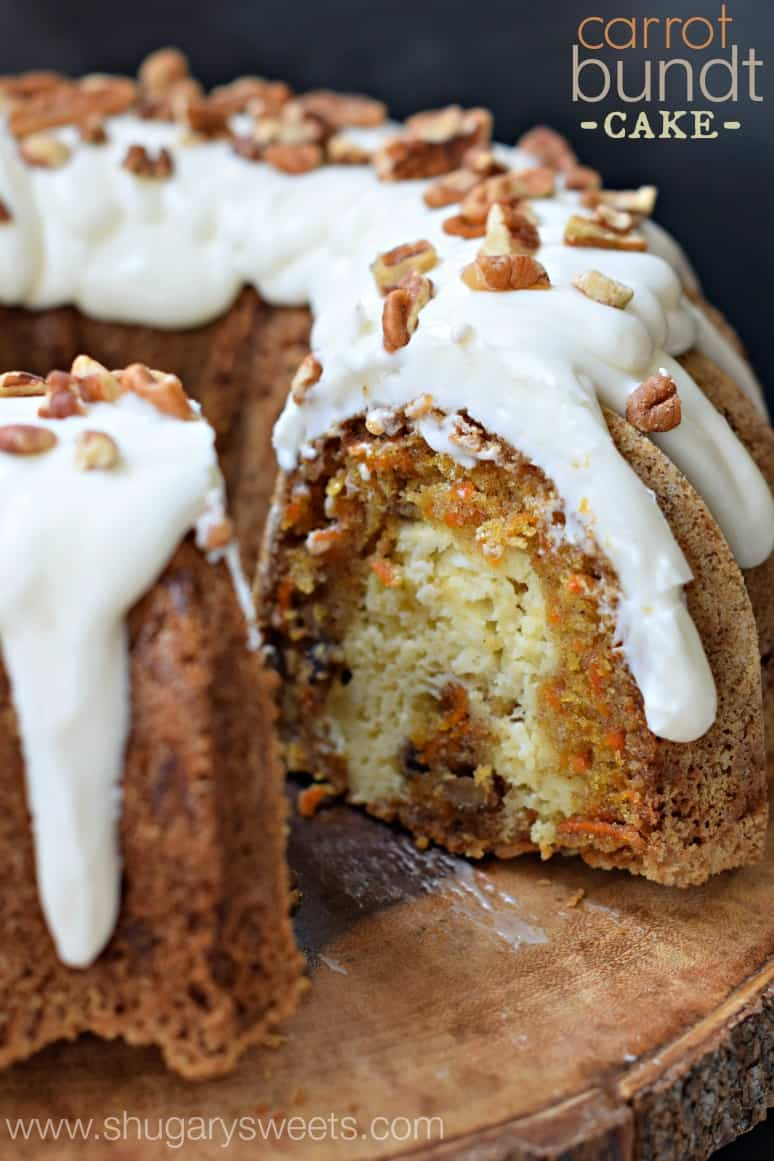 Carrot Cake And Cream Cheese Pound Cake