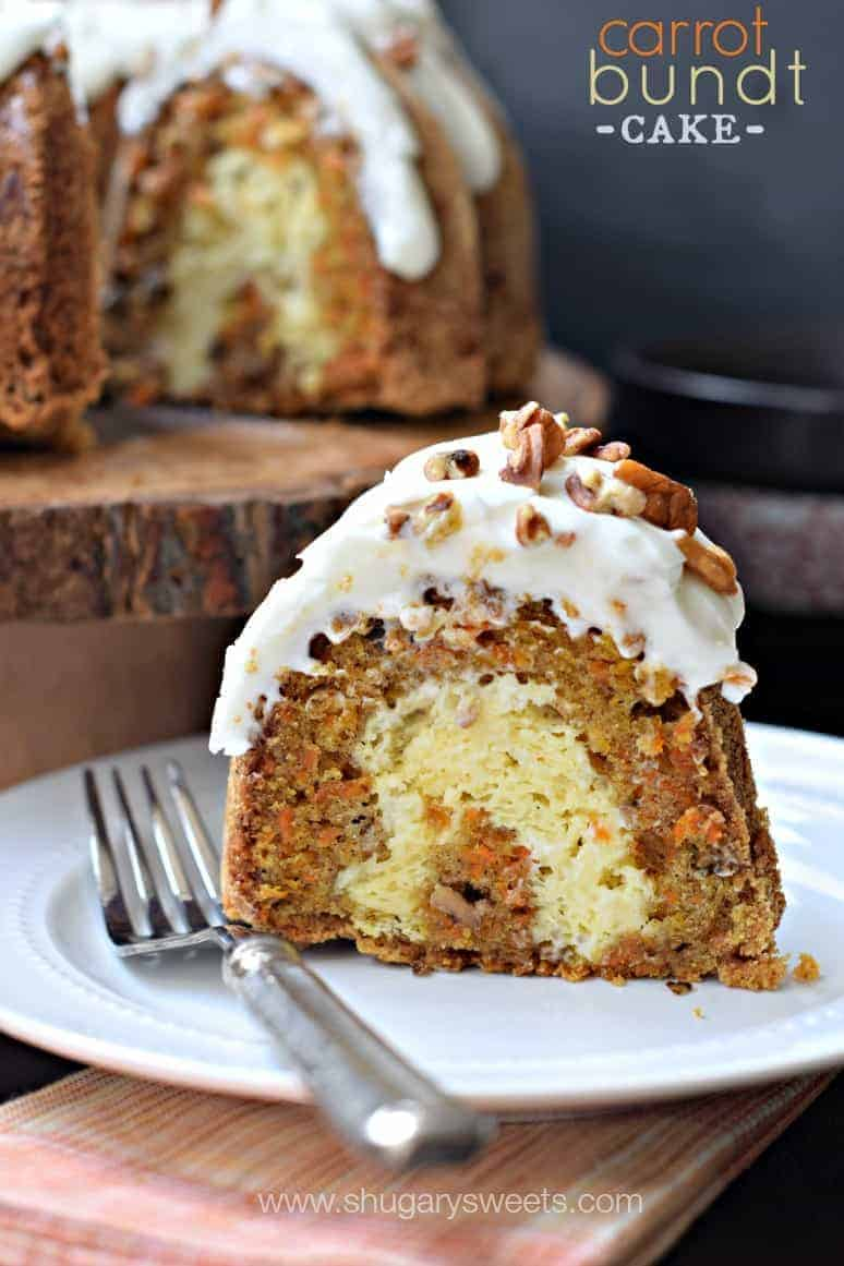 Carrot Bundt Cake With Cream Cheese Filling
