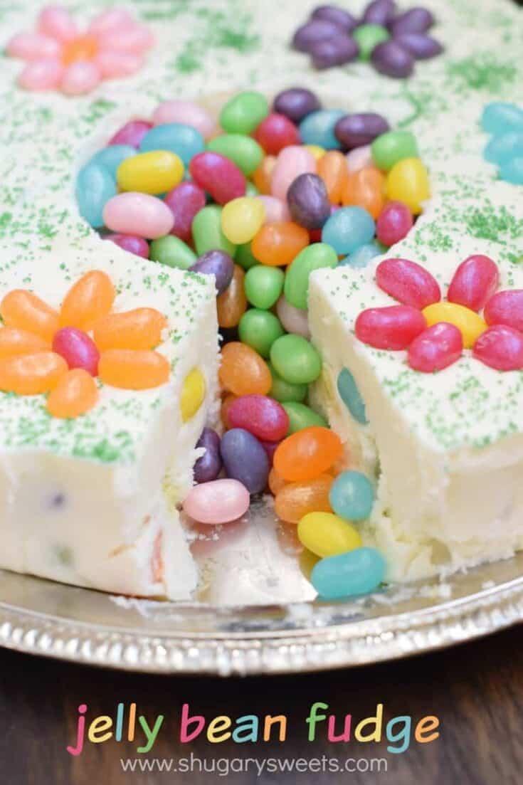 Fun and festive Jelly Bean Fudge recipe!