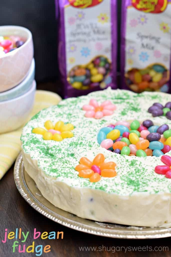 Jelly Bean Fudge: a delicious, beautiful dessert idea. Use @jellybelly jelly beans for a fun treat!