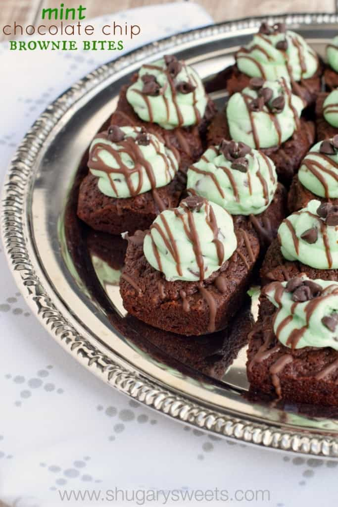 Mint Chocolate Chip Brownie Bites: delicious, from scratch, two bite ...