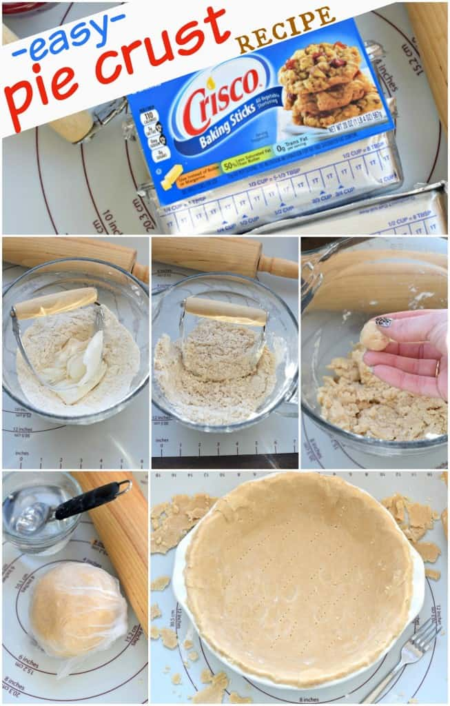 Easy homemade Pie Crust recipe. If I can do this, so can you! #criscoknowspie