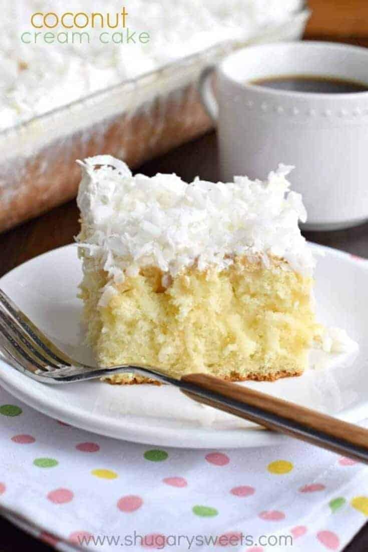 Moist, delicious Coconut Cream Poke Cake recipe!