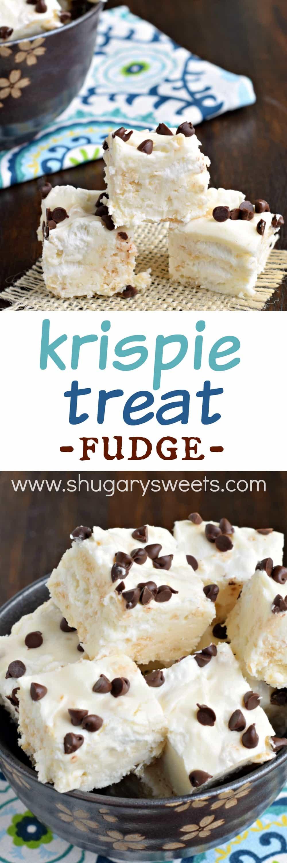 Krispie Treat Fudge Shugary Sweets