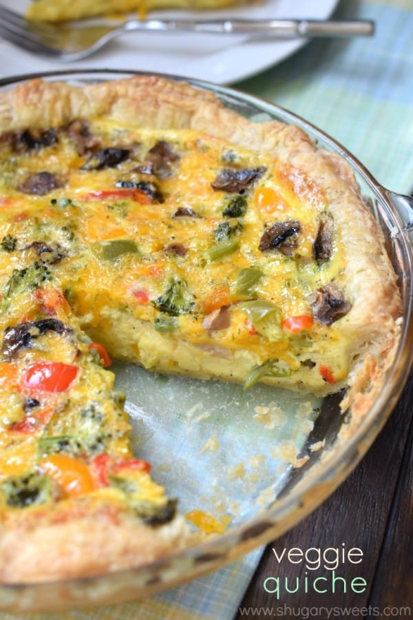 The Best Garden Veggie Quiche Recipe With Puff Pastry Crust