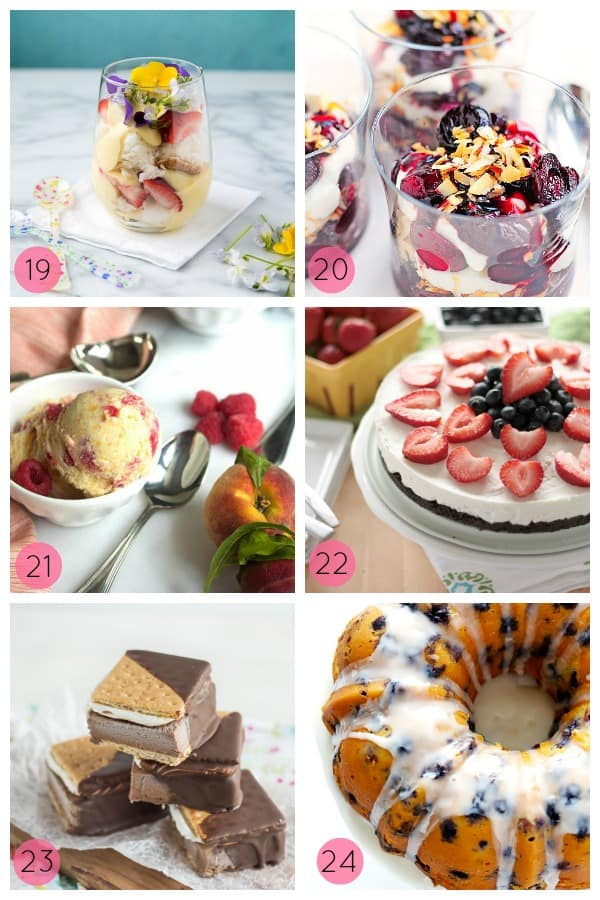 24 Summer Desserts on www.shugarysweets.com