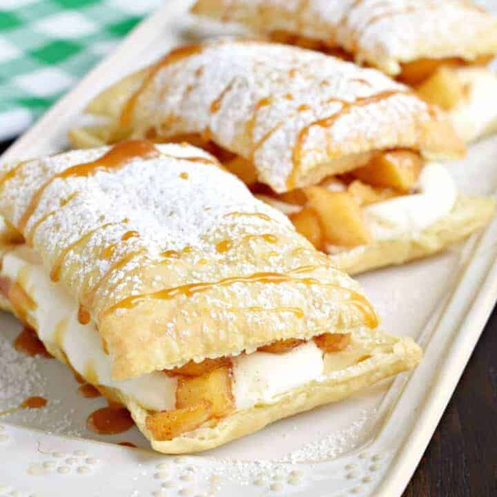 Apple Cheesecake Napoleons