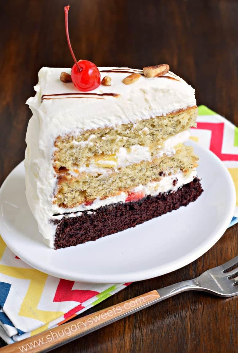 Banana Split Cake - Shugary Sweets
