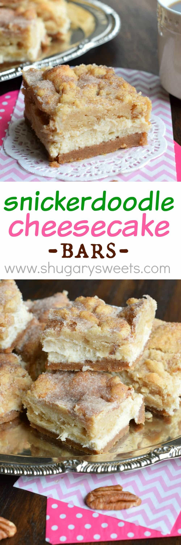 Shugary Sweets Snickerdoodle Cheesecake Bars Shugary Sweets
