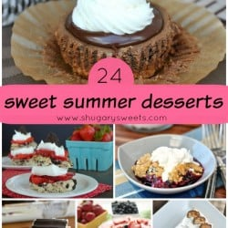 24 Sweet Summer Desserts on Shugary Sweets