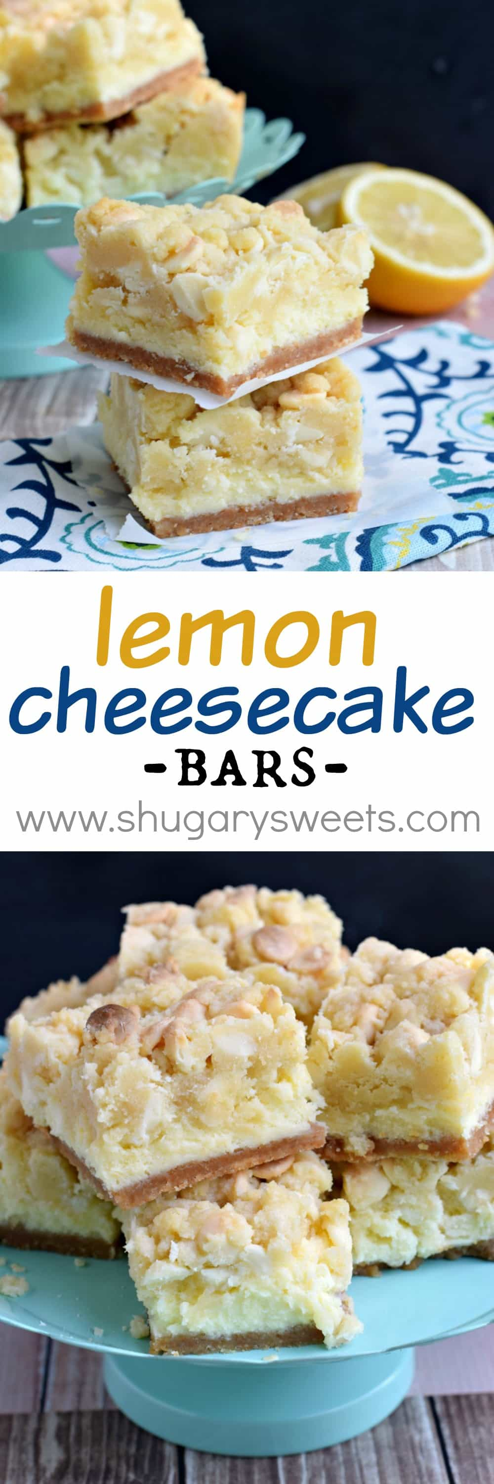 Cheesecake Bars from Deliciously Sprinkled Oatmeal Cookie Cheesecake ...