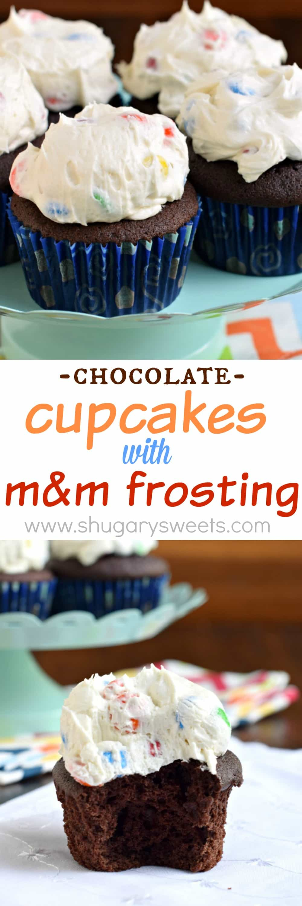 Shugary Sweets: Chocolate Cupcakes With M&m Frosting