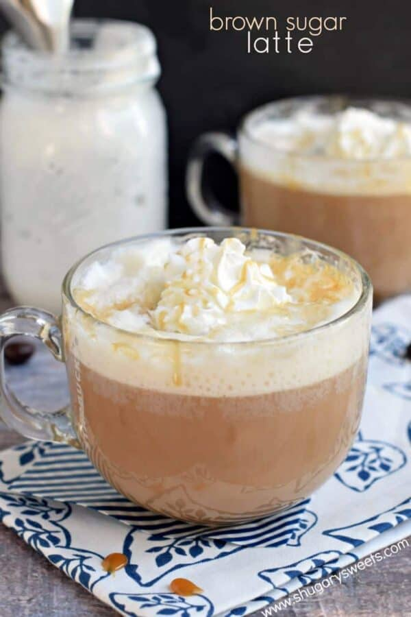 Enjoy homemade coffeehouse drinks at home! This Brown Sugar Latte is not only delicious, but it's easy to make too!