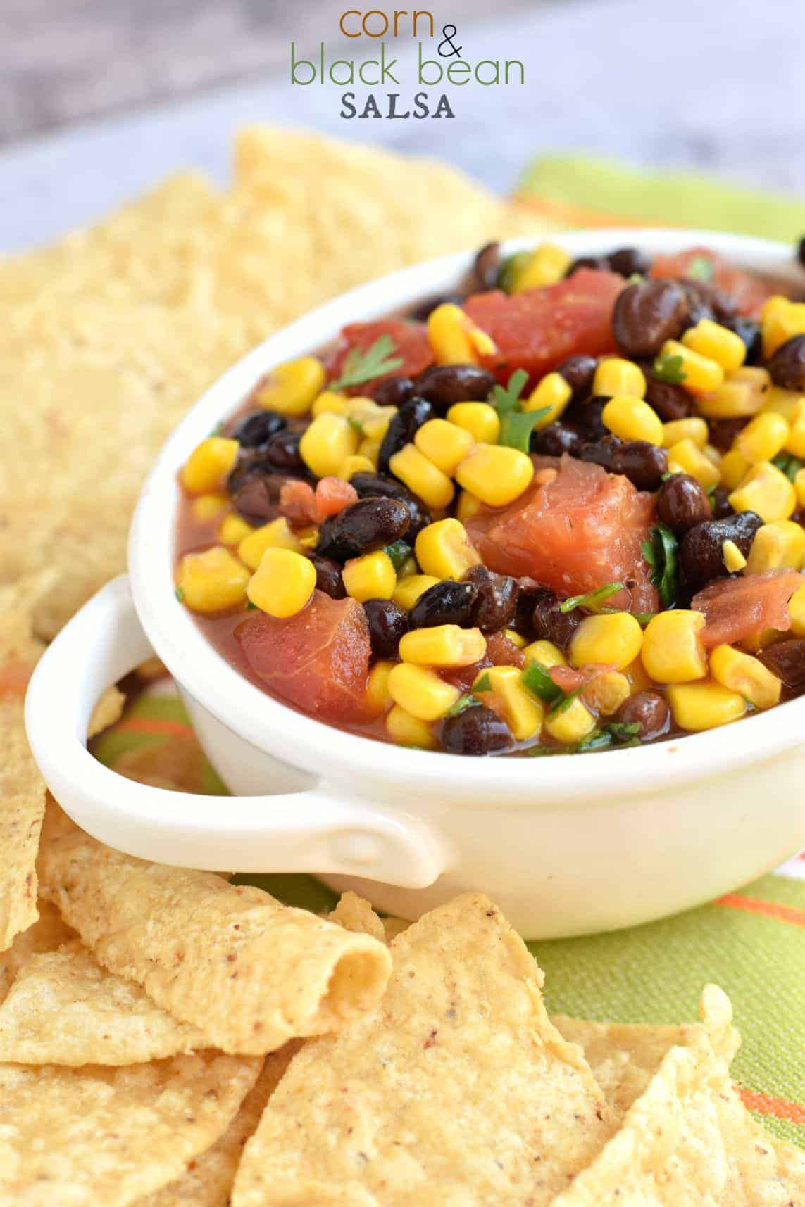 ... salsa when you can make this delicious Corn and Black Bean Salsa at