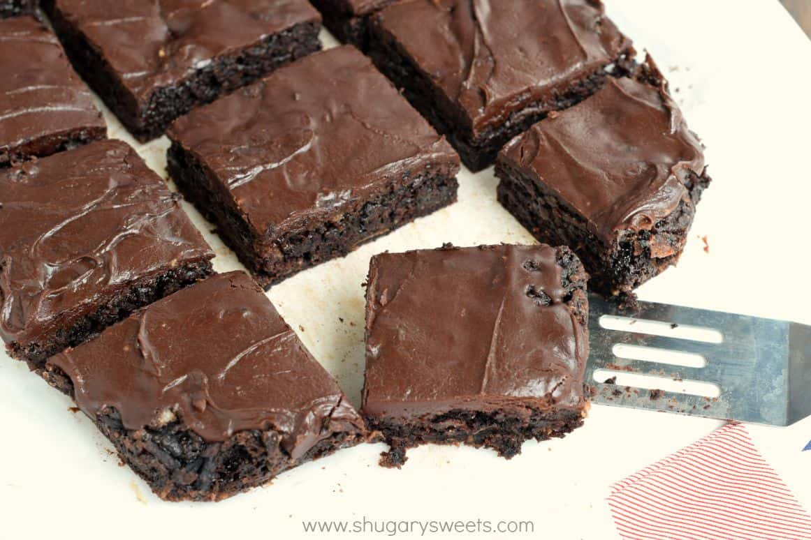 Chocolate Zucchini Brownies - Shugary Sweets