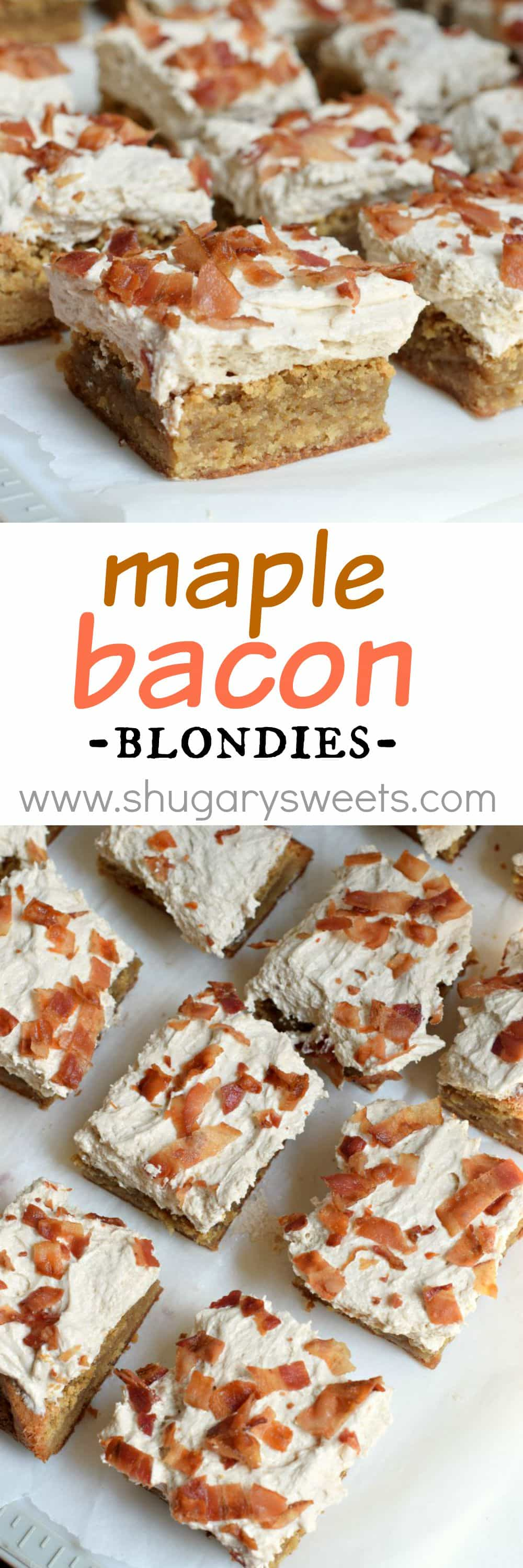 These Maple Bacon Blondies are the perfect sweet and salty dessert ...