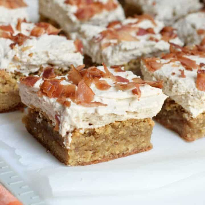 Maple Bacon Blondies